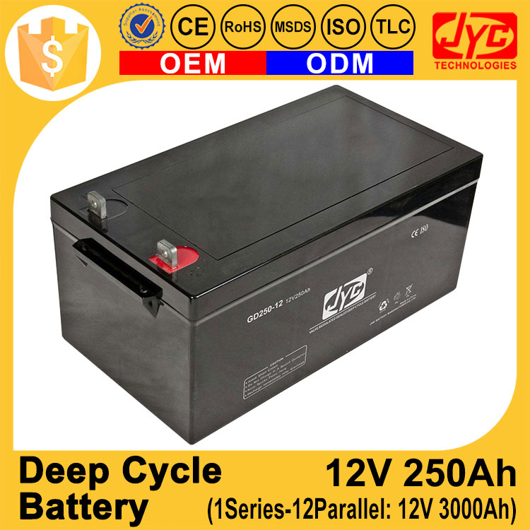 12V 250Ah Deep Cycle Battery Cell 1S12P Formed 12V 3000Ah AGM VRLA Gel Solar Batteries