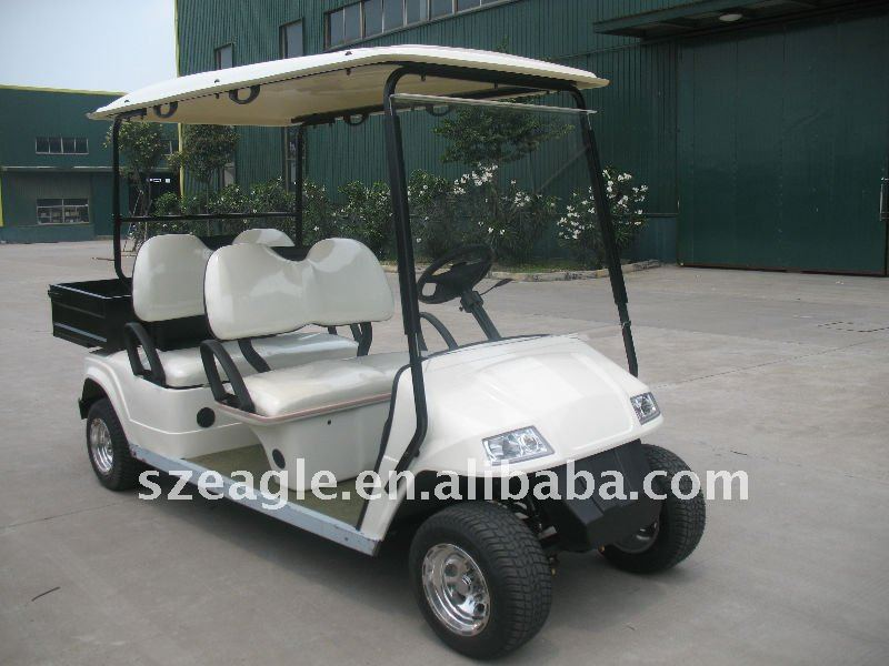 battery operated electric golf car/ golf cart/ utility vehicle/golf buggy,with rear cargo box, ce approved, EG2048H01