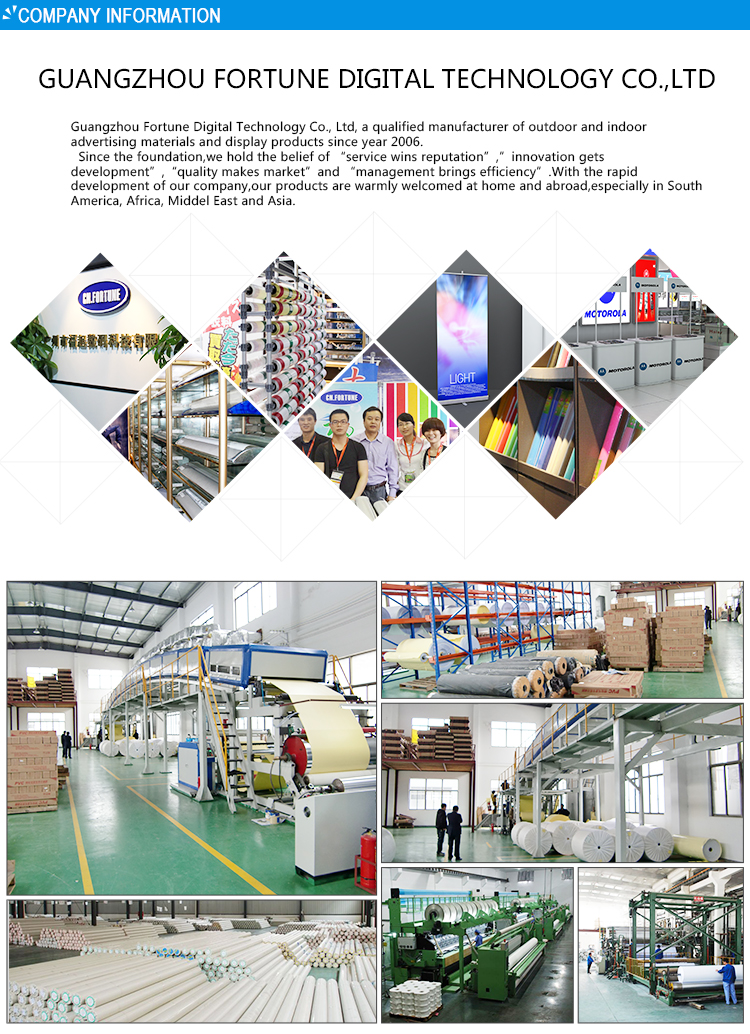 2016 Good Market Eco solvent Matte Outdoor advertising Printed Self adhesive PP Paper