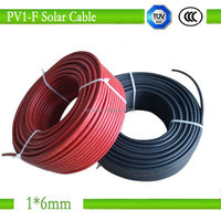 1*6mm tinned copper conductor dc solar pv cable