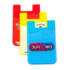 Silicone Card Holder Wallet For Mobile Phone with custom logo printing