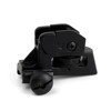 Hunting Tactical Detachable Compact Backup Iron Rear Sight with Full Windage Elevation Adjustment