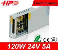 Factory price 5a 120w 24v smps circuit board CE RoHS constant voltage Rainproof power smps module Single Output smps 24v