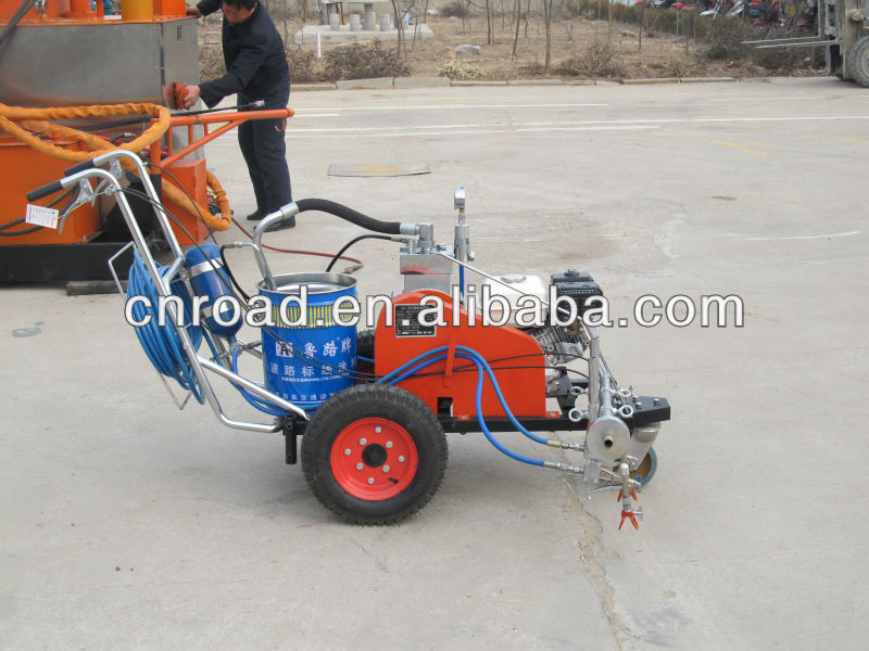 cold spray high pressure airless road way paint line machine