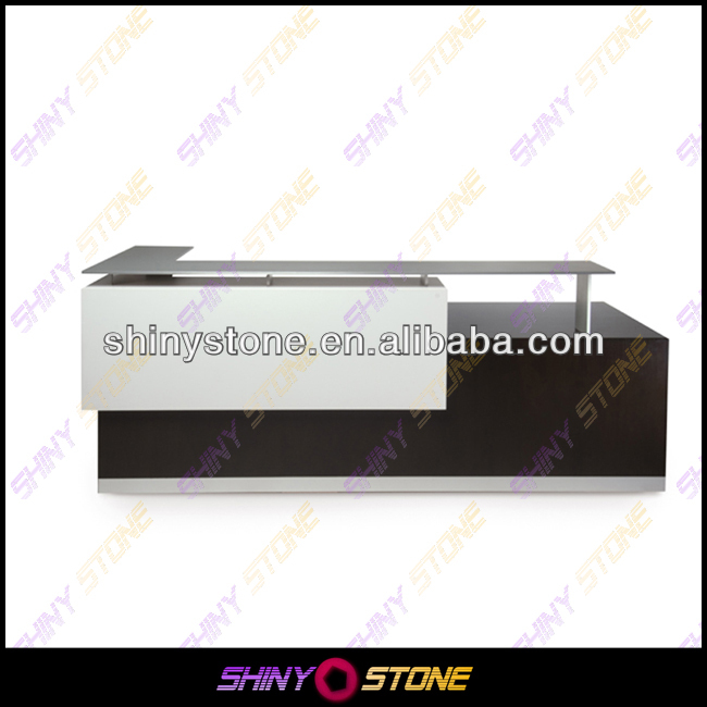 Modernism L-shaped commercial office Acrylic Solid Surface different type of table service