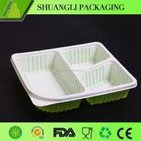 3 Section plastic food container with divider wholesale