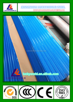 hot sales 0.27mm Ppgi Color Coated Corrugated galvanized roofing Sheet