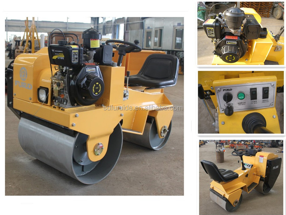 800kg Ride-on Tandem Drum Vibratory Road Roller for Sale (FYL-850)