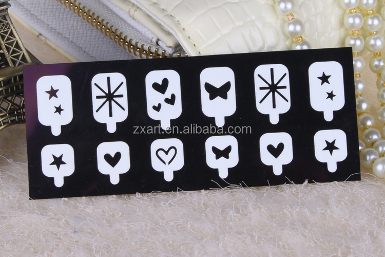 Lovely Directly Sticked Various Color Creative hollow Nail Sticker/Sticker Nail