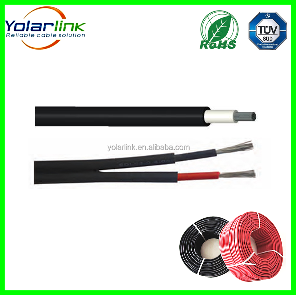 TUV pv cable pv1-f 4mm2 solar cables for solar power panel station
