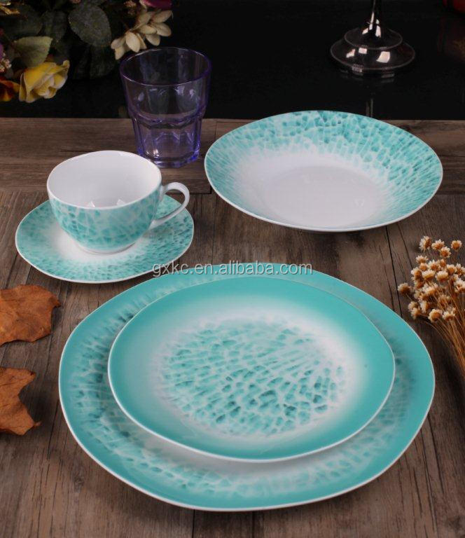 Porcelain 20pcs island shape wholesale dinner set