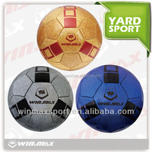 Winmax brand cheap custom deflated rubber football/ soccer ball