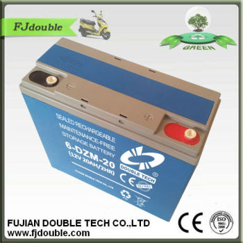 6-DZM-20 eBike Battery 12V 20AH lead acid battery