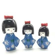 QS brand high quality Mini Wooden baby Japanese doll