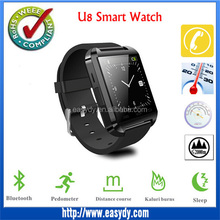 Shenzhen Factory offer U8 smart watch, 1.44 Inch HD Screen Smartwatch for android IOS Phone, Bluetooth Smart Watch U8