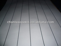2.7mm grooved paper overlay plywood / tongue and groove plywood
