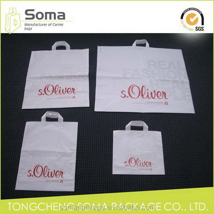 Alibaba china hot sell decorative soft loop plastic bag
