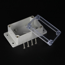 wall mount ip65 waterproof clear plastic enclosure box case with flange