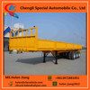 Tri-axle cargo trailer with side wall, 50tons side wall semi trailer for 20ft/40ft container loading