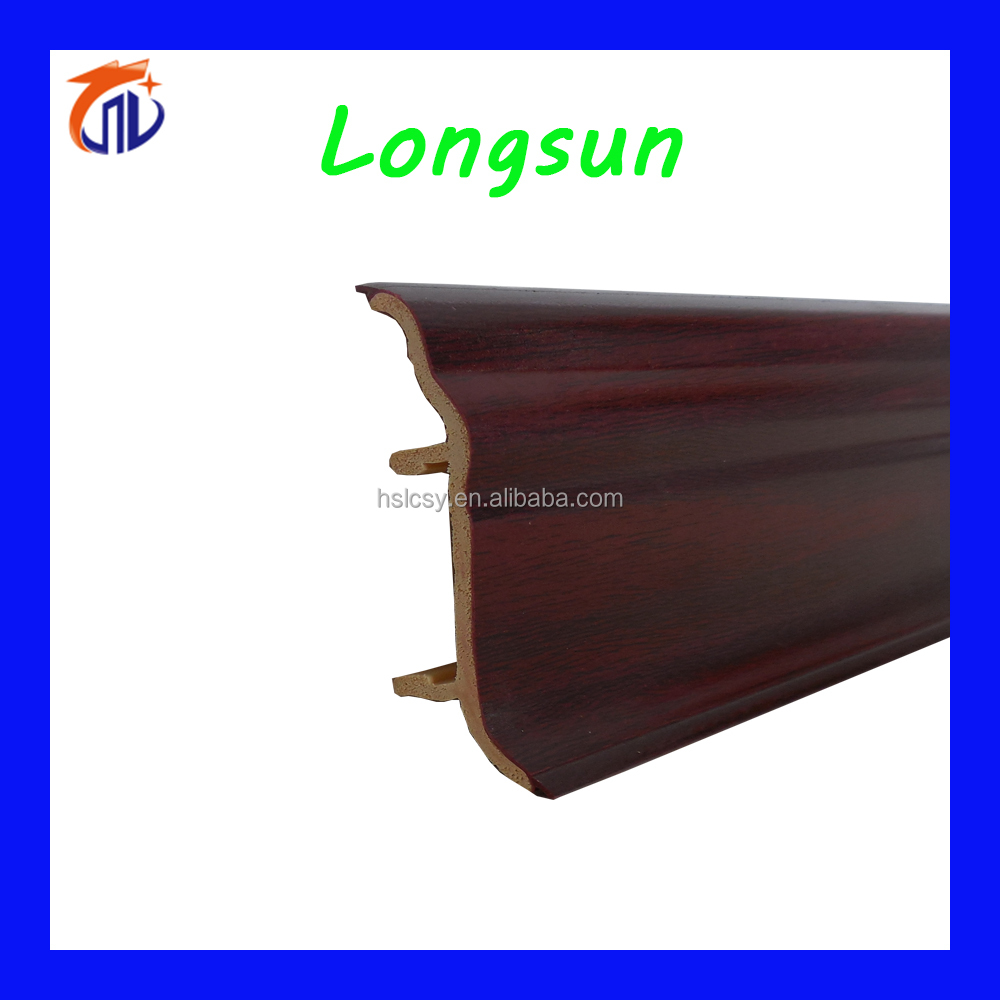 Wholesale bathroom flooring pvc skirting coving