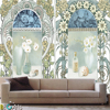Excellent quality 3d royal sticker design printing wallpaper murals photos