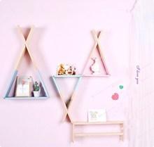 Creative Wood Commodity <strong>Shelf</strong> triangle Practical Decorative Wall Board <strong>Shelf</strong> Floating Ledge Wall Storage <strong>Shelf</strong> for Bedroom