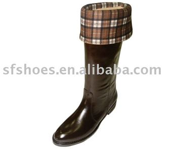 fashion pvc horse riding boots for sport