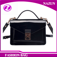 2016 China Factory Supplies Cheap Bright Color Leather Lady Shoulder Bag Messenger Bags Woman for Girls