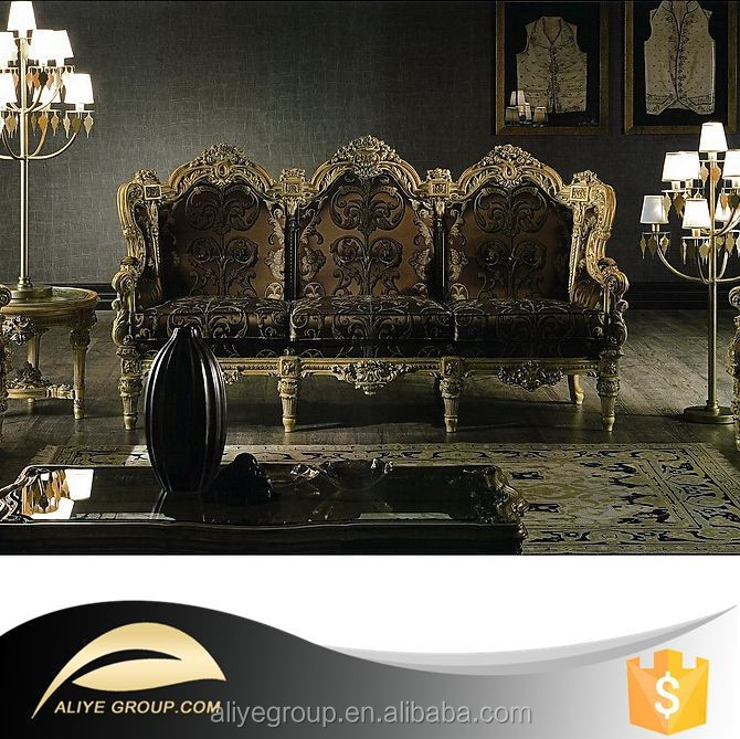 AF368-sofa wood carving living room furniture classical french style sofa Luxury living room furniture