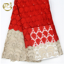MC-60 Silver Soluble Embroidery Lace Fabric