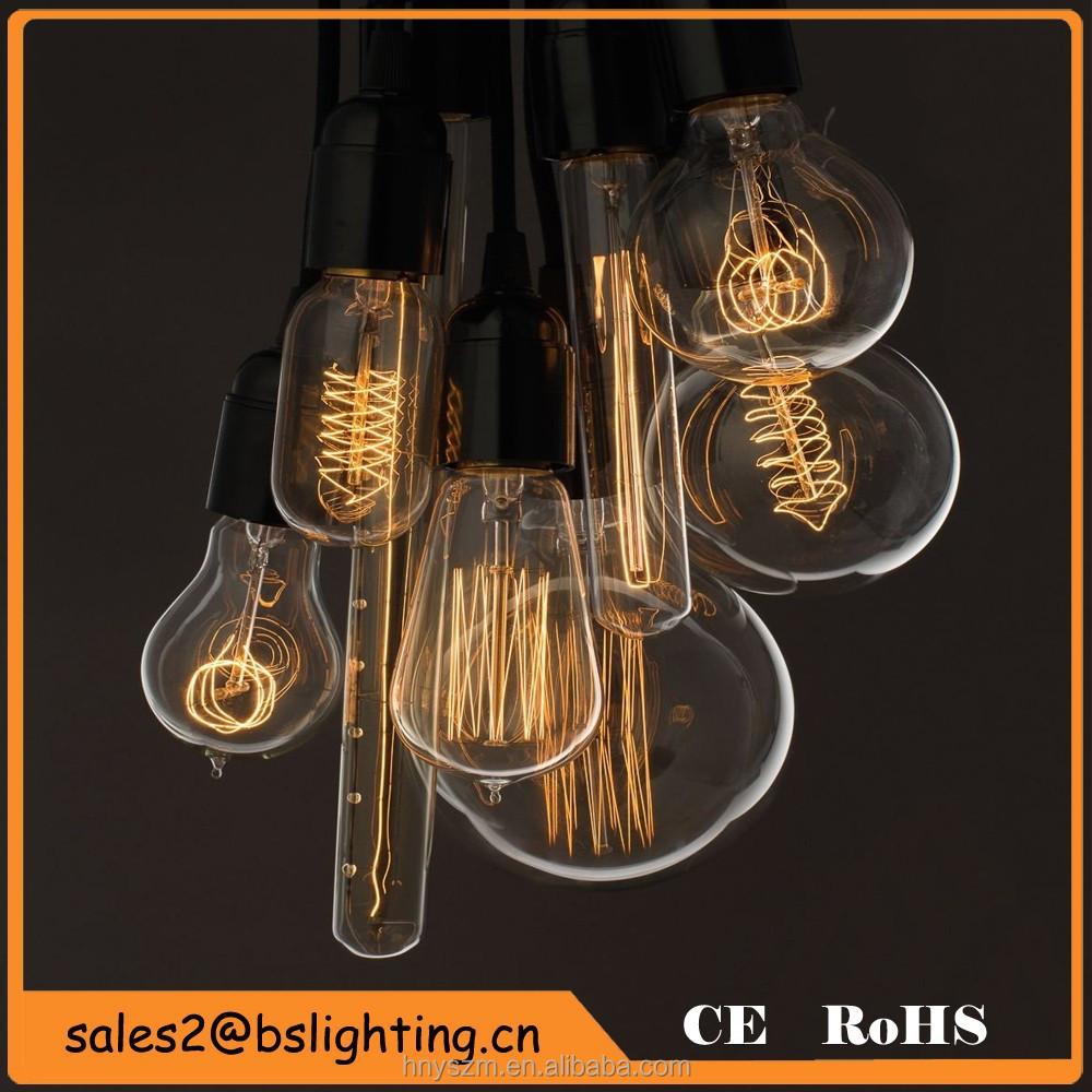 wholesale edison bulb light amber st64 carbon bulb light. Black Bedroom Furniture Sets. Home Design Ideas