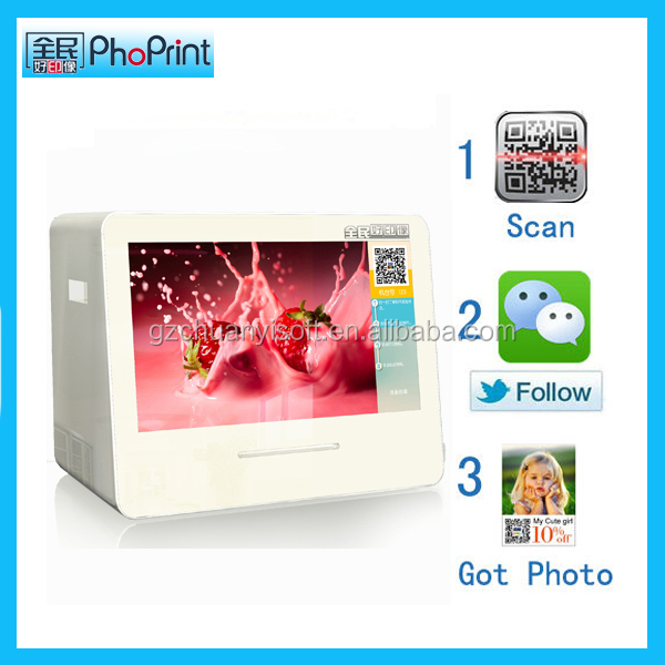 multimedia desktop <strong>advertising</strong> tft type and indoor application photo printer tablet kiosk