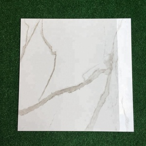 New 3d white marble ceramic wood look porcelain glaze polished floor tiles in foshan factory price for kitchen and bathroom