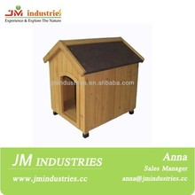 Waterproof wooden dog house