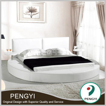 mordern style leather round bed soft bed PY-B12