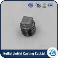 Passed ISO 9001 Test Casting Mechanical Malleable Iron Pipe Fittngs Galvanized Plug