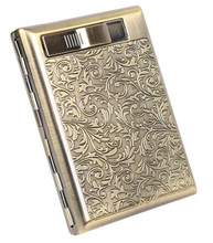 Fashionable cheap usb lighter with cigarette holder case