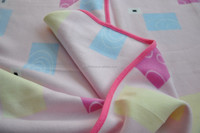polar fleece baby blanket with satin hem