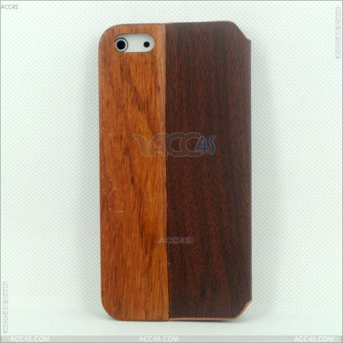 High quality Wood PU case for iPhone 5 P-IPH5CASE101