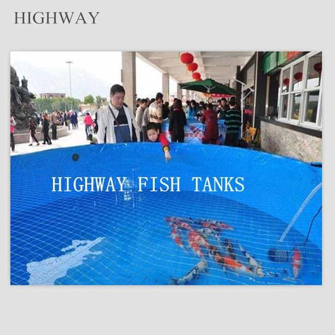 Collapsible PVC fabric fish tank for ras aacuaculture fish farm