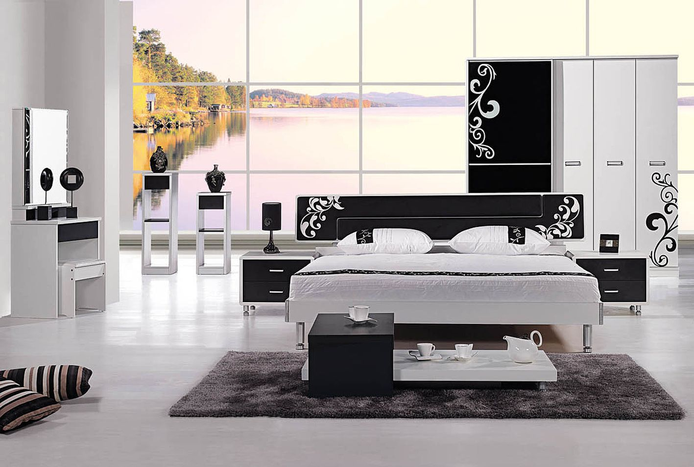 Model Bedroom 2014 new model bedroom furniture was made from e1 mdf board and