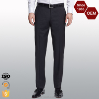 Comfortable Fit Flat Front Wrinkle Free Formal Men's Pants Trousers