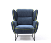 navy blue modern leisure single sofa arm chair for lounge and living room