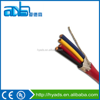 Fire Alarm Cable 14 AWG & 12 AWG 2 & 4 Solid Copper Conductors Shielded Red