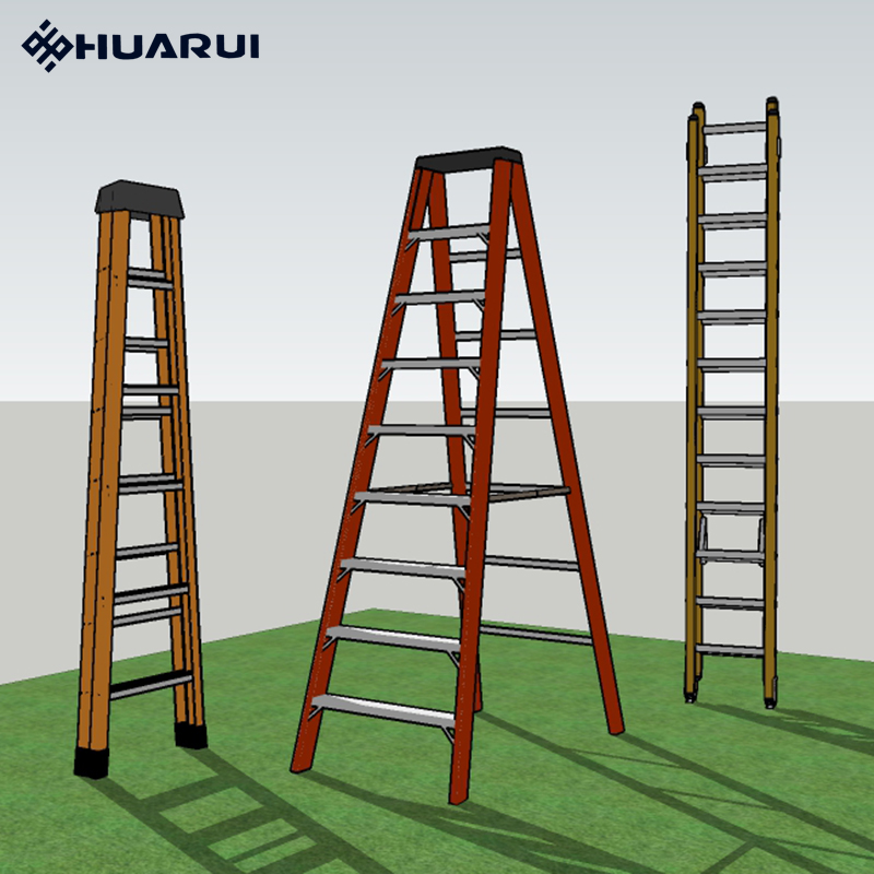 High strength anti corrosion pultruded frp ladders