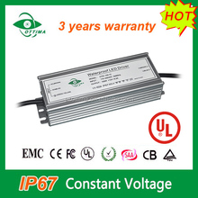 UL list 170-250V ac Waterproof constant voltage Meanwell 12v dc power supply 100w