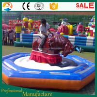 Outdoor Games with Inflatable Rodeo Bull Ride for Sport Adults Entertainment