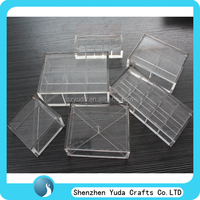 Affordable price accepted customized waterproof food grade clear acrylic tea bag storage box candy coffee display case