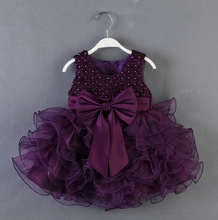 YD2318 european baby dress tutu pearl baby tutu dress