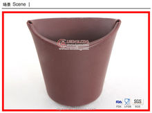 Car use flexible collapsible silicone rubbish bin, garbage can